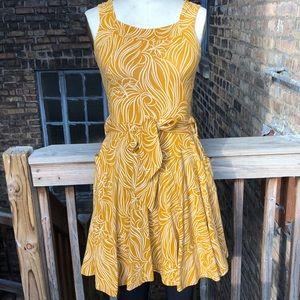 Yellow full circle dress
